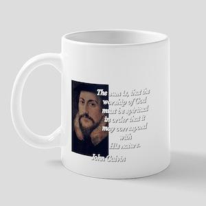 John Calvin quote Mug
