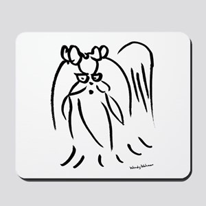 Little long hair dog Mousepad