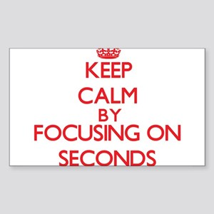 Keep Calm by focusing on Seconds Sticker