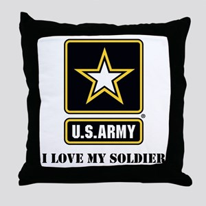 Personalize Army Throw Pillow
