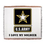 Personalize Army Woven Blanket