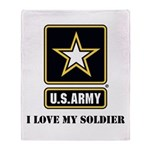 Personalize Army Throw Blanket
