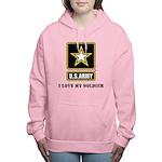 Personalize Army Women's Hooded Sweatshirt