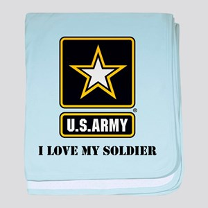 Personalize Army baby blanket