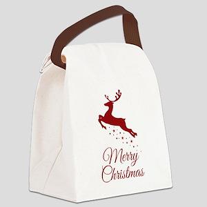Reindeer Christmas Magic Canvas Lunch Bag