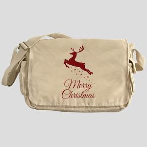 Reindeer Christmas Magic Messenger Bag