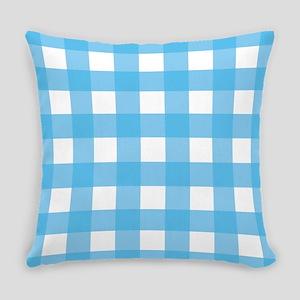 Gingham Checks Sky blue Master Pillow