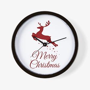 Reindeer Christmas Magic Wall Clock