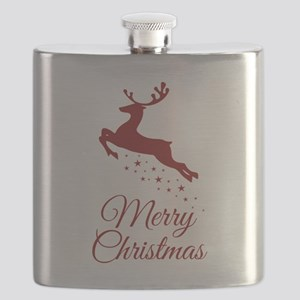 Reindeer Christmas Magic Flask