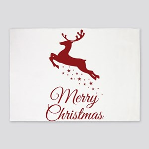 Reindeer Christmas Magic 5'x7'Area Rug
