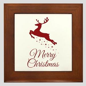 Reindeer Christmas Magic Framed Tile