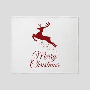 Reindeer Christmas Magic Throw Blanket