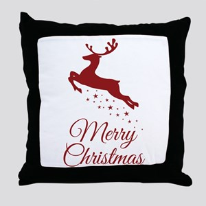 Reindeer Christmas Magic Throw Pillow
