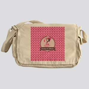 Pink Cowgirl Horseshoe Pattern Perso Messenger Bag