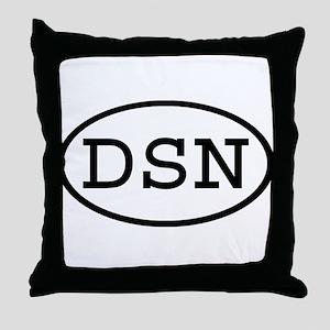 DSN Oval Throw Pillow