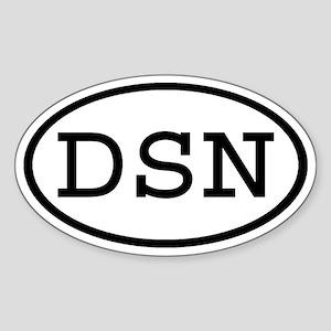 DSN Oval Oval Sticker