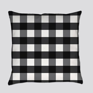 Gingham Checks Black and White Master Pillow