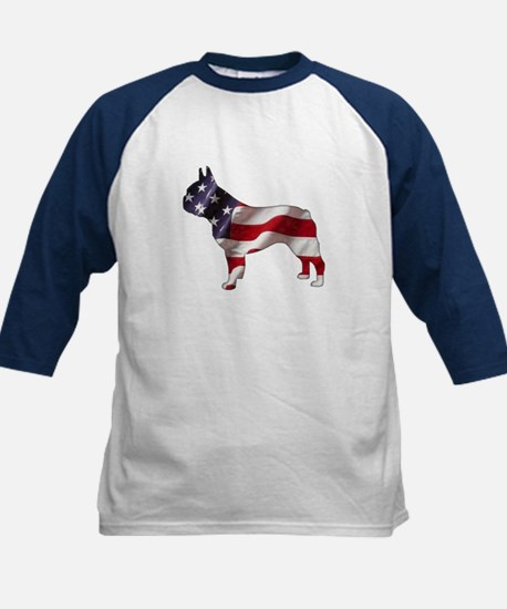 American Frenchie Kids Baseball Jersey