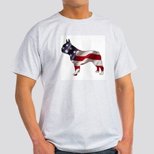 American Frenchie Ash Grey T-Shirt