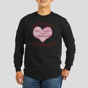 40th. Anniversary Long Sleeve Dark T-Shirt