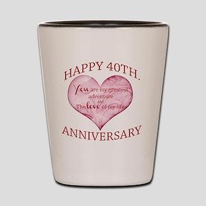 40th. Anniversary Shot Glass