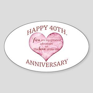 40th. Anniversary Sticker