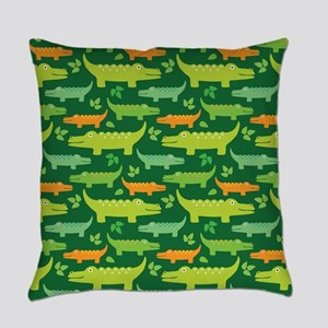 Alligator Crocodile Jungle Master Pillow