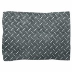 Gray Diamond Plate Pattern Pillow Sham