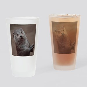 Sweet young Otter Drinking Glass