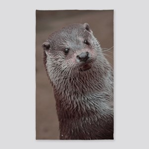 Sweet young Otter Area Rug
