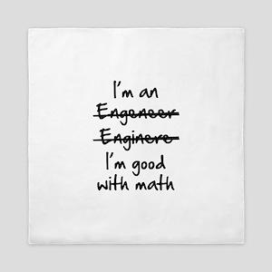 I'm Good With Math Queen Duvet