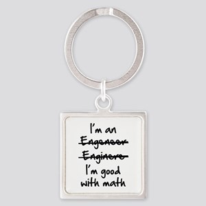 I'm Good With Math Square Keychain