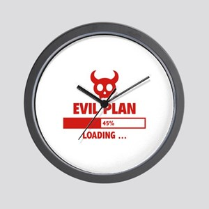 Evil Plan Loading Wall Clock