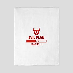 Evil Plan Loading Twin Duvet