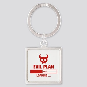 Evil Plan Loading Square Keychain