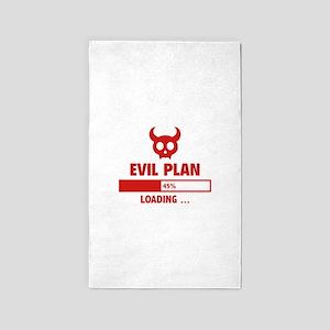 Evil Plan Loading 3'x5' Area Rug