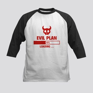 Evil Plan Loading Kids Baseball Jersey