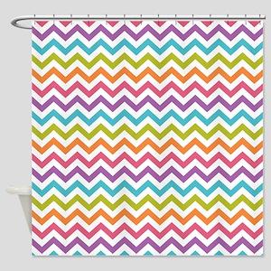 multi color chevron shower curtain. Colorful Chevron Shower Curtain Curtains  CafePress