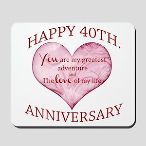 40th. Anniversary Mousepad