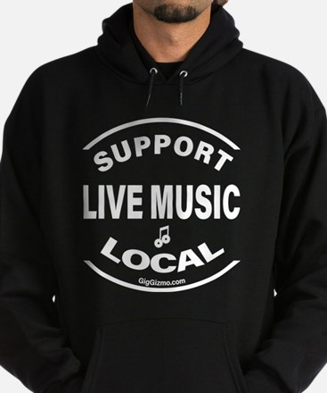 Funny Support local music Hoodie (dark)