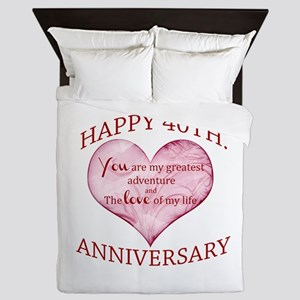 40th. Anniversary Queen Duvet