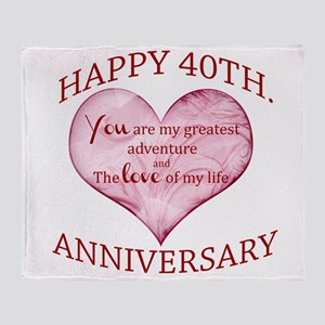 40th. Anniversary Throw Blanket