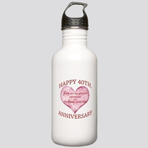 40th. Anniversary Stainless Water Bottle 1.0L