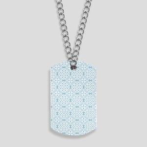 Aquamarine & White Lace Tile 2 Dog Tags