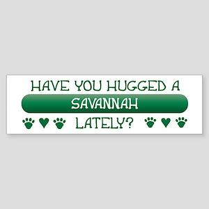 Hugged Savannah Bumper Sticker