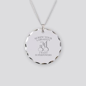 I Want Superpowers Necklace Circle Charm