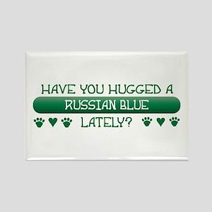 Hugged Blue Rectangle Magnet