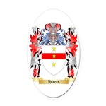 Hierro Oval Car Magnet