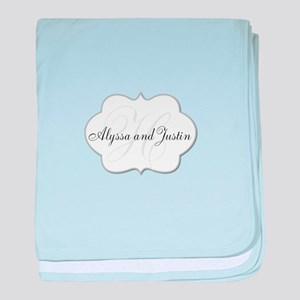 Elegant Monogram and Name Design baby blanket