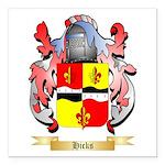 Hicks (Ireland) Square Car Magnet 3